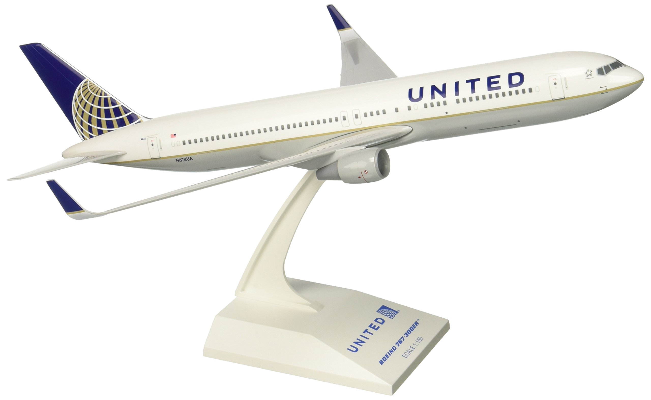 Daron Skymarks United 767-300ER Post Co Merger Liv Model Kit (1/150 Scale) by Daron (Image #1)