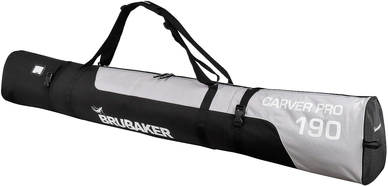 BRUBAKER 170cm Skisack Carver PRO Skitasche Skibag OVP schwarz/silber