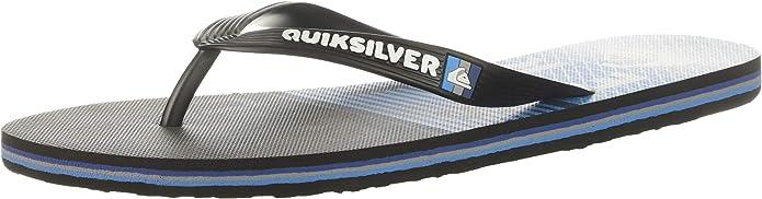 M US Black//Blue//Blue Quiksilver Men/'s Molokai Slab Logo Sandal 13 46