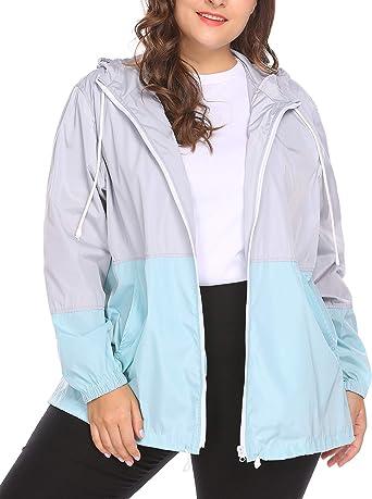 Windbreaker Coat Plus Size Jacket Women