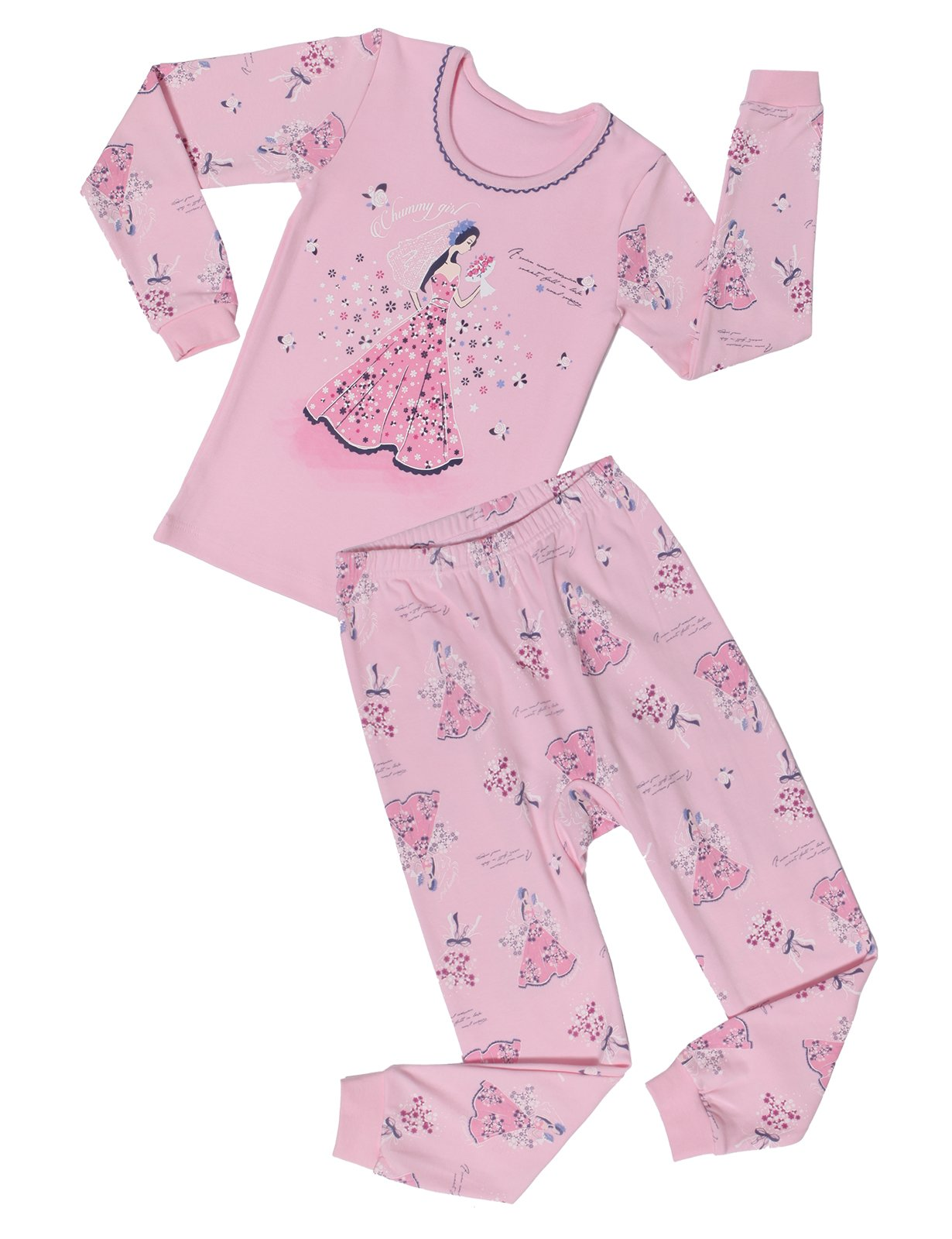 ChummyChummy Pajamas Big Girls Pjs Sets Wedding Day US 7~8Y/Asia 70 (KGSPJ04)