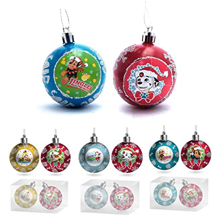 nickelodeon paw patrol christmas baubles set of 2 kids xmas tree decorations