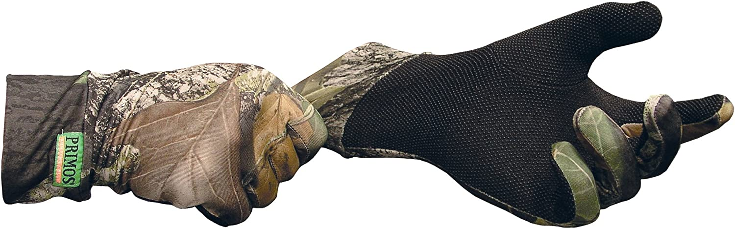 Primos Stretch-Fit Gloves with Sure-Grip and Extended Cuff, Mossy Oak New Break-Up : Snowboarding Gloves : Sports & Outdoors