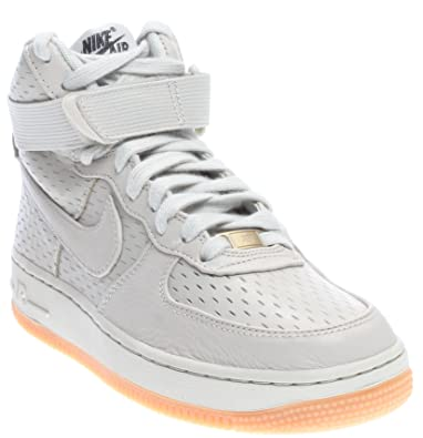 half off 1e913 08bc9 Nike Women s Air Force 1 Hi PRM Light Bone Light Bone Black Basketball Shoe  8.5 Women US  Buy Online at Low Prices in India - Amazon.in