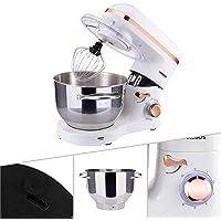 Arebos - Robot de cocina | acero inoxidable 6 l | varillas mezcladas | batidor y protección contra salpicadura…