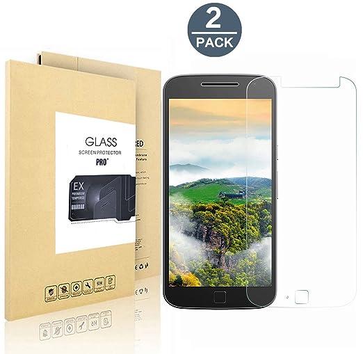 2 opinioni per [2-Pack]Lenovo Moto G4 Plus Pellicola Protettiva, EasyULT 2 Pack Pellicola