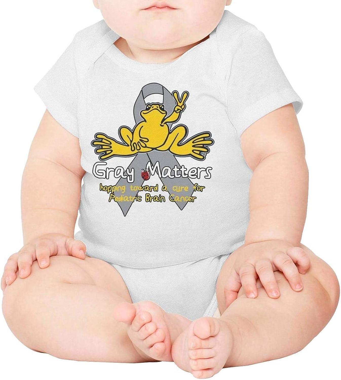 Baby Onesies Peace Frog Gray Matters Logo 100/% Cotton Baby Jumpsuit Comfortable Short Sleeve Bodysuit