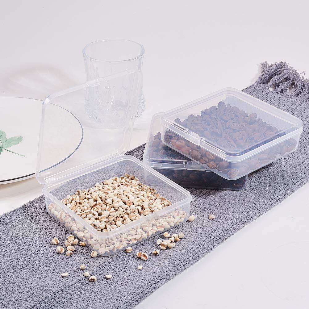Peque/ña BENECREAT 27 Pack Caja de Contenedores de Almacenamiento de Plastico Transparente de Tama/ño Mixto Pildoras con Tapa para Art/ículos Joyas