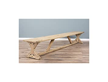 Inspiring Furniture LTD 3m Reclaimed Pine Cross Dining Bench: Amazon