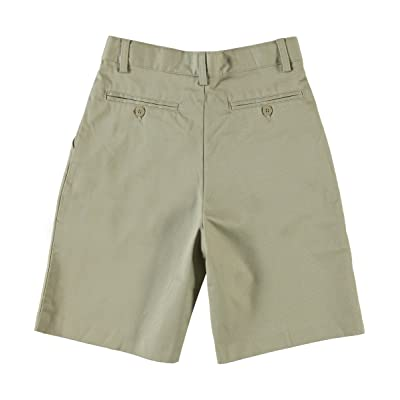 Boys Flat Front Shorts w/ Adjustable Waist + Hook and Eye Closure by Unive-