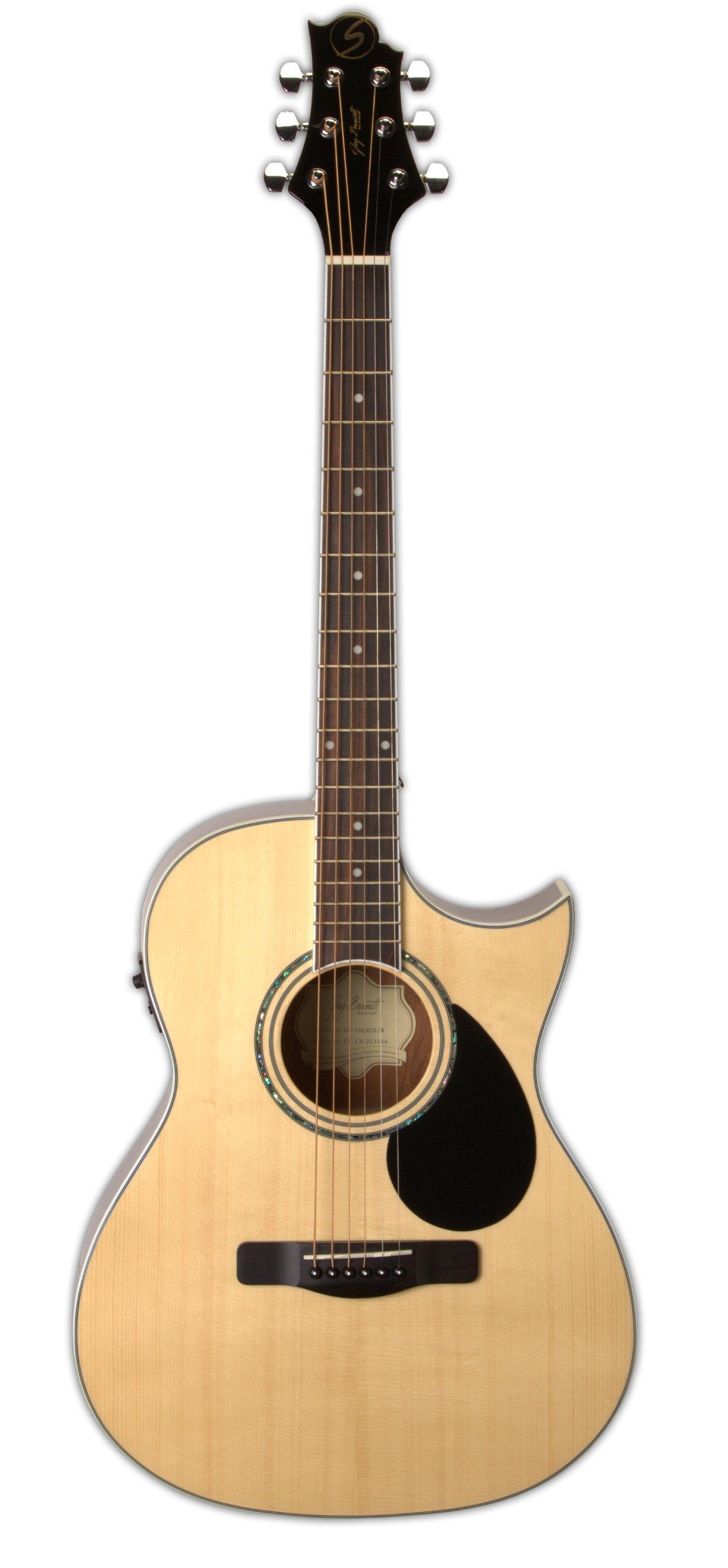 Greg Bennett Design G Series 100 GA100SCE N Auditorium Acoustic-Electric Guitar, Natural by Greg Bennett Design