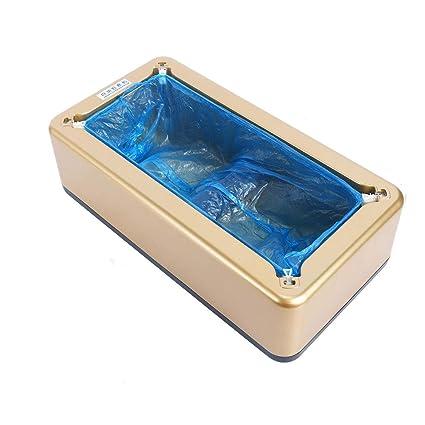 hll-036 Dispensador Cubierta Zapatos Automático con 100 Piezas Desechable El Plastico Bota Cubierta del