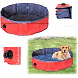 """Dog Bath Tub, Splash Swim Pool Large 62"""" Round Foldable Dog Pool"""