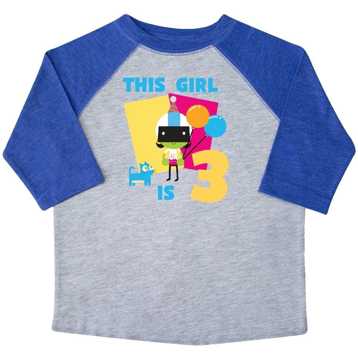 inktastic This Girl is 3 with Dee Toddler T-Shirt PBS Kids