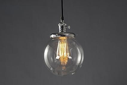Lamparas de techo realizadas por Feven – Pantallas redondas de vidrio – Decoracion vintage- Producto de alta calidad – Combina con cualquier ...