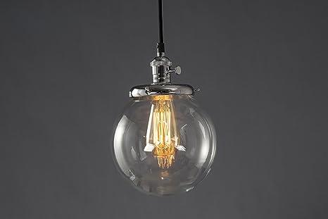 Lampade In Vetro A Sospensione : Lampadario a sospensione feven paralumi sferici in vetro lampade