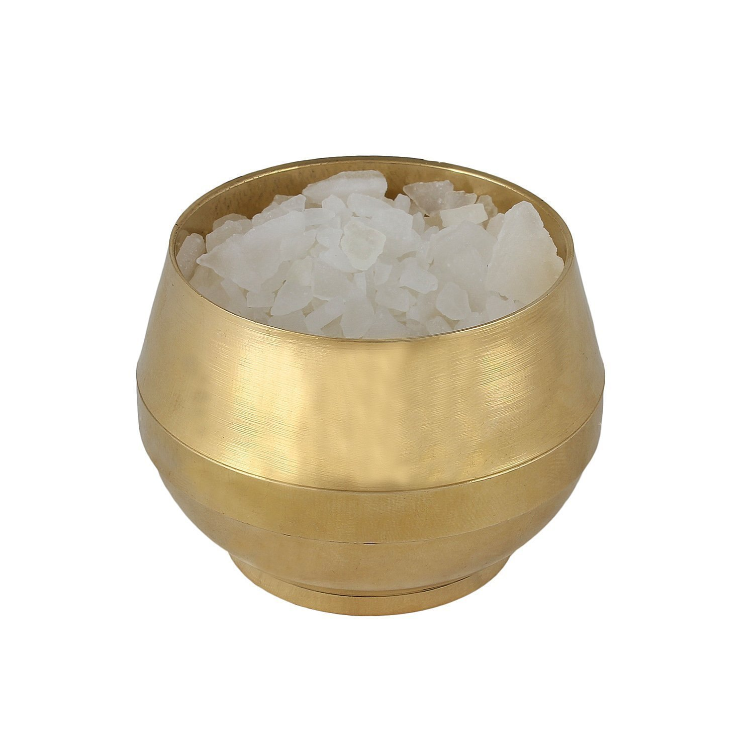 Odishabazaar Positive Aura Brass Camphor Lamp- Protect House From All Negative Energies (gold1)