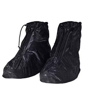HSEAMALL Zapatos a Prueba de Agua Cubierta,Cubierta del Zapato Impermeable,Cubrecalzado Impermeable Moto Botas, Fundas de Lluvia para Zapatos
