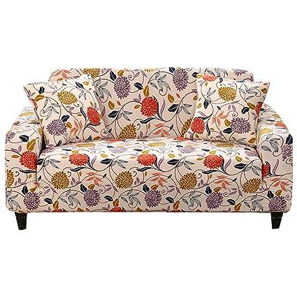 Amazon.com: FORCHEER Printed Stretch Sofa Slipcover Spandex Big ...