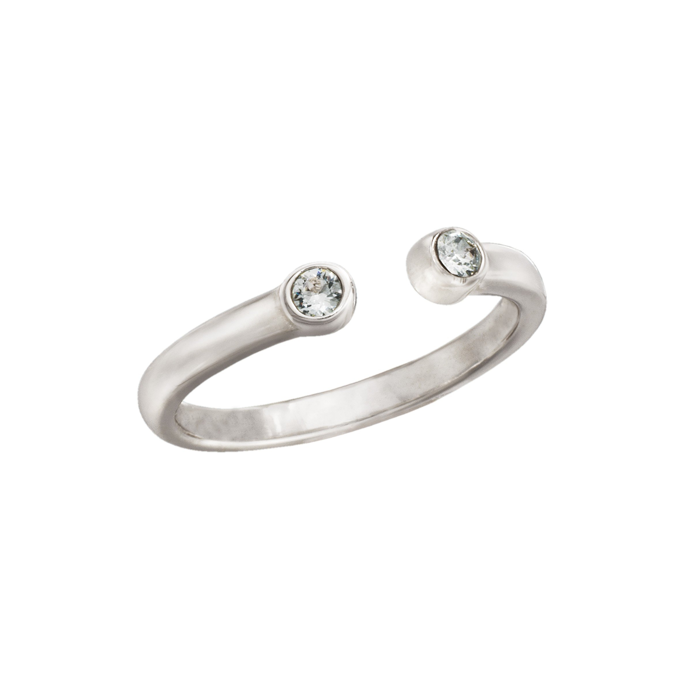 Silpada 'Bling' Midi Ring with Swarovski Crystals in Sterling Silver
