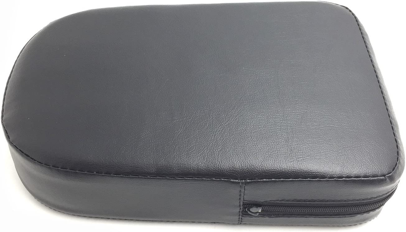 HONGK B01MXLXM9G Black Rectangular Backrest Sissy Bar Cushion Pad Compatible with Kawasaki Honda Suzuki Harley
