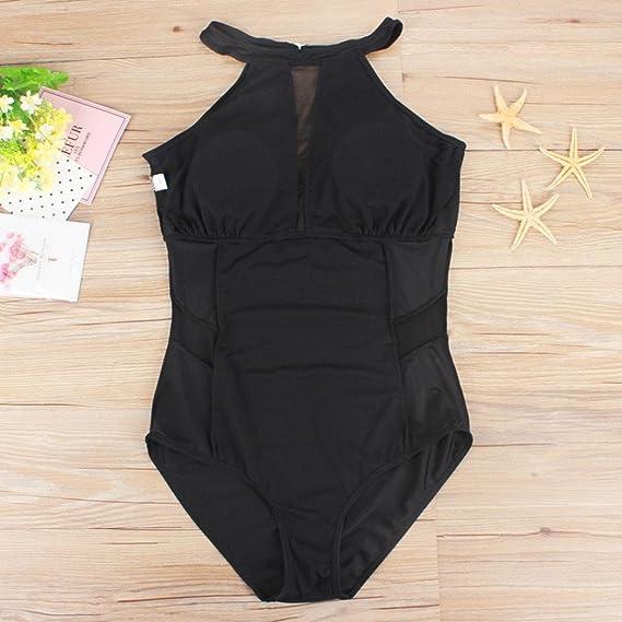 4f17f33defb DAYLIN Plus Size Womens Swimming Mesh Padded Swimsuit Monokini Swimwear  Push Up Bikini L~3XL  Amazon.co.uk  Clothing