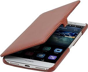 StilGut Book Type avec Clip, Housse en Cuir pour Huawei Mate S, en Cognac