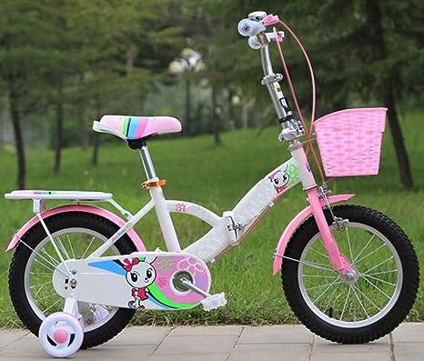 JBHURF Bicicletas Plegables para niños y niñas para ...