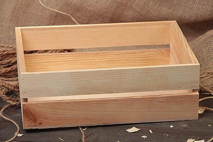 Pequeña caja de madera para decorar o pintar hecha a mano para manualidades