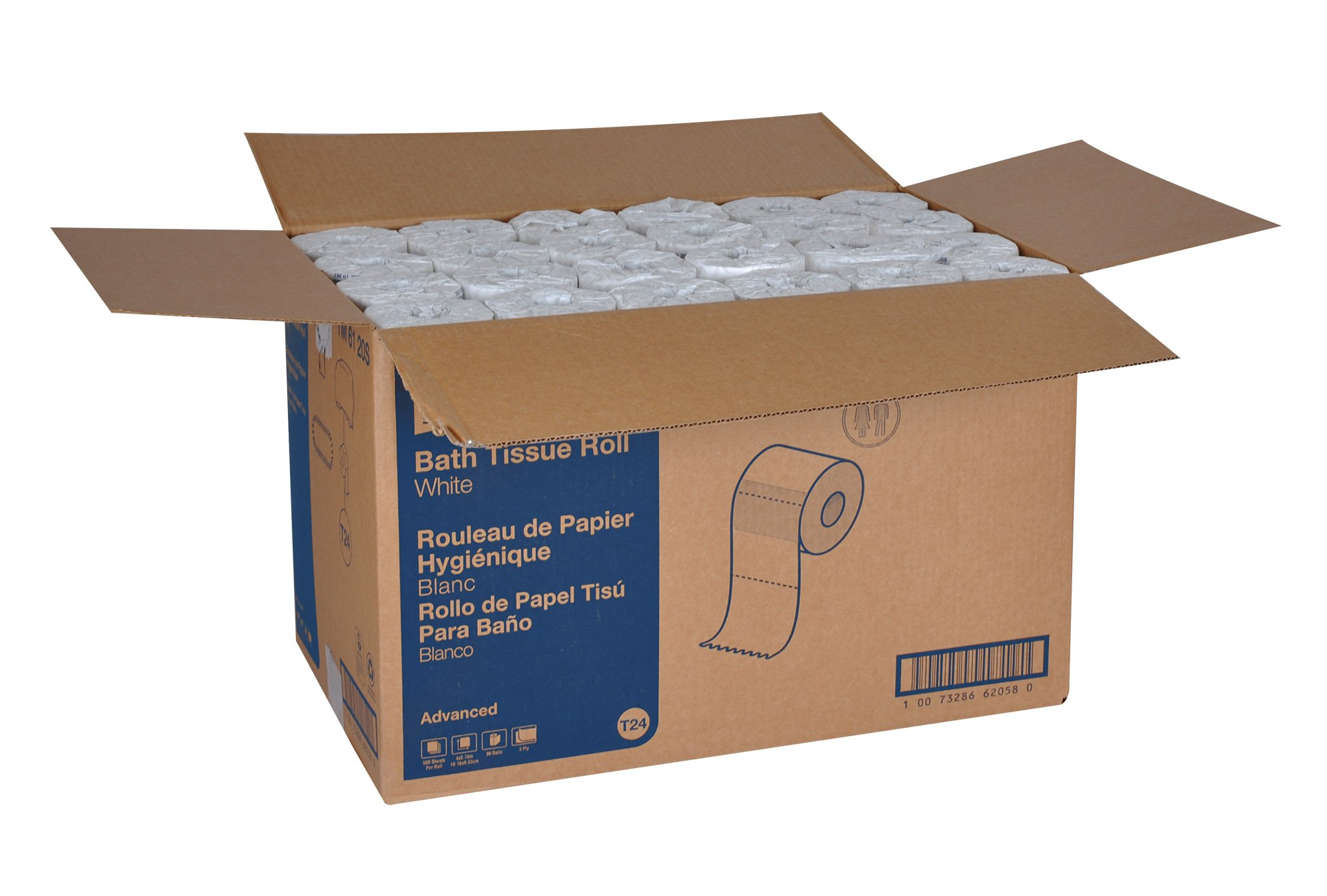 Tork Advanced TM6120S Bath Tissue - open case