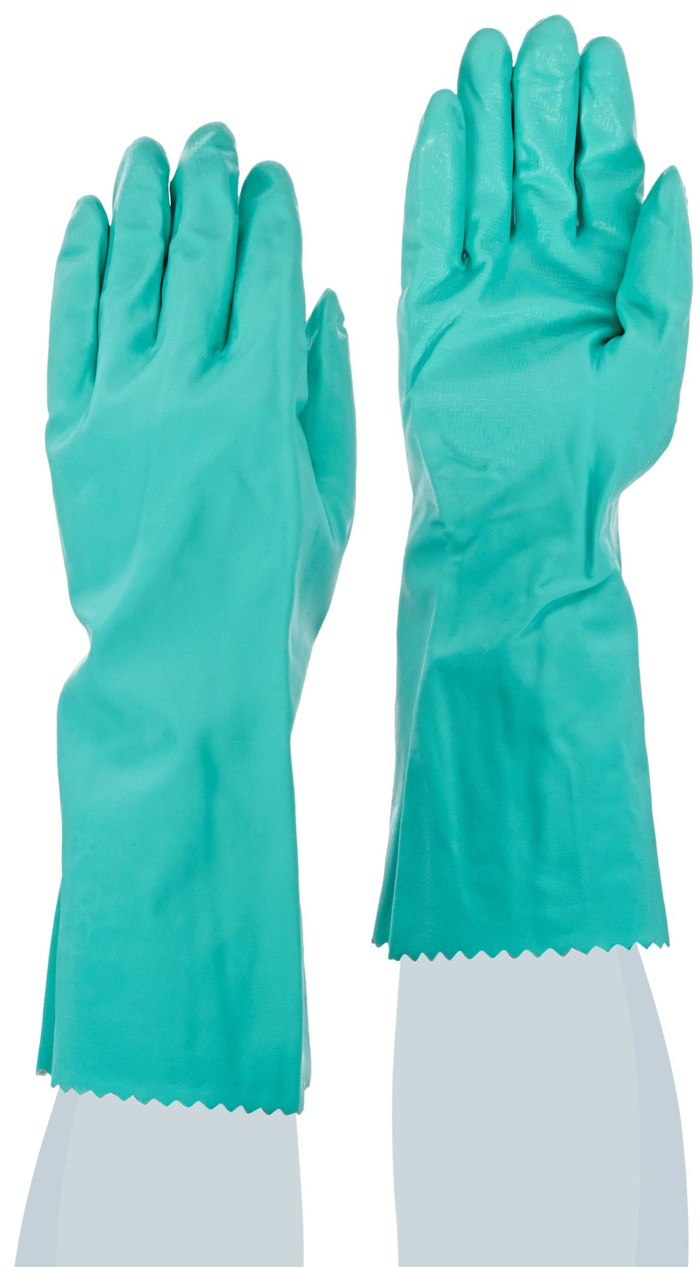 MAPA Stansolv AK-22 Nitrile Mediumweight Glove, Chemical Resistant, 0.033'' Thickness, 14'' Length, Size 8, Green (Bag of 12 Pairs)