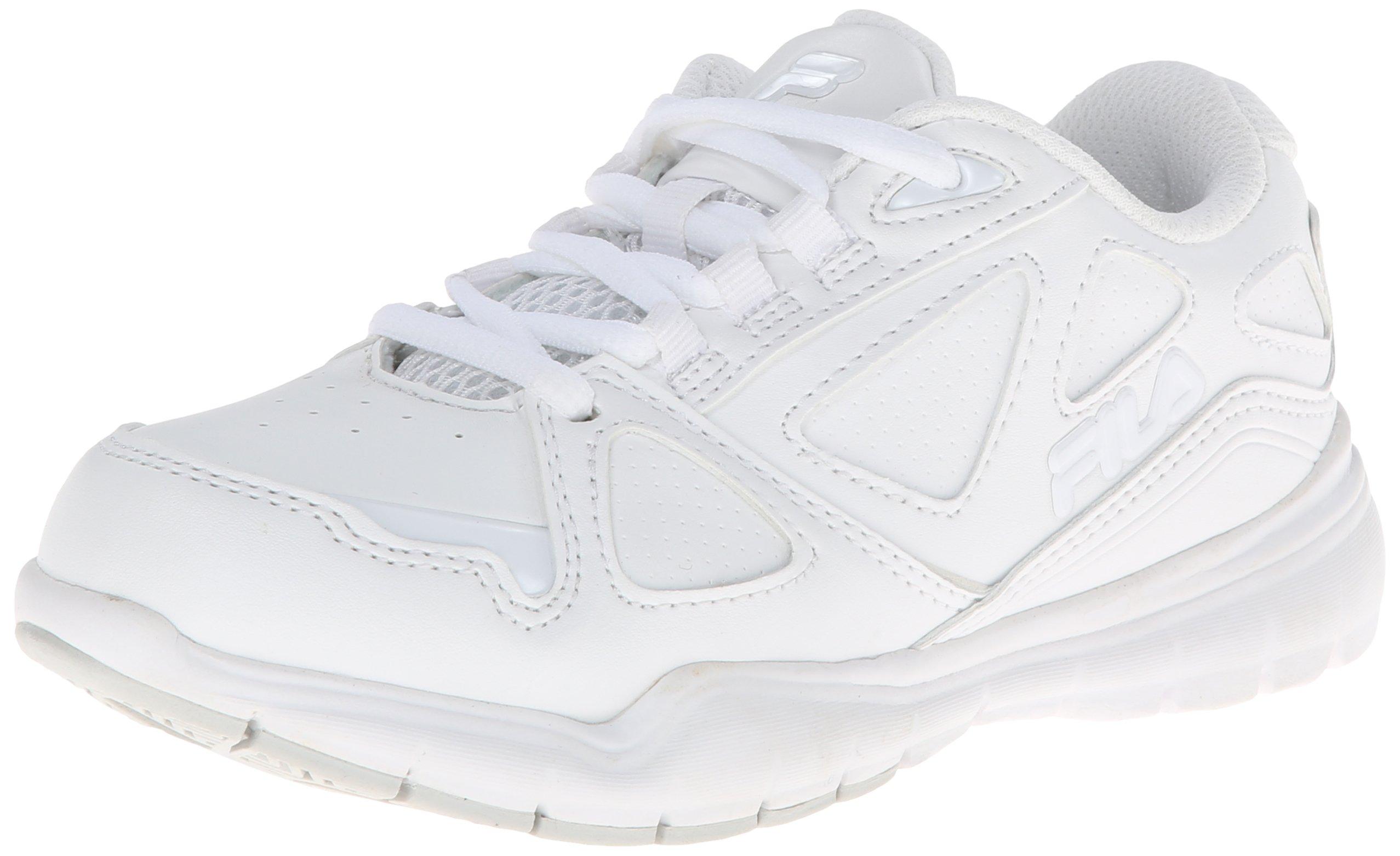 Fila Side-By-Side Training Shoe (Little Kid/Big Kid),White/White/White,6 M US Big Kid