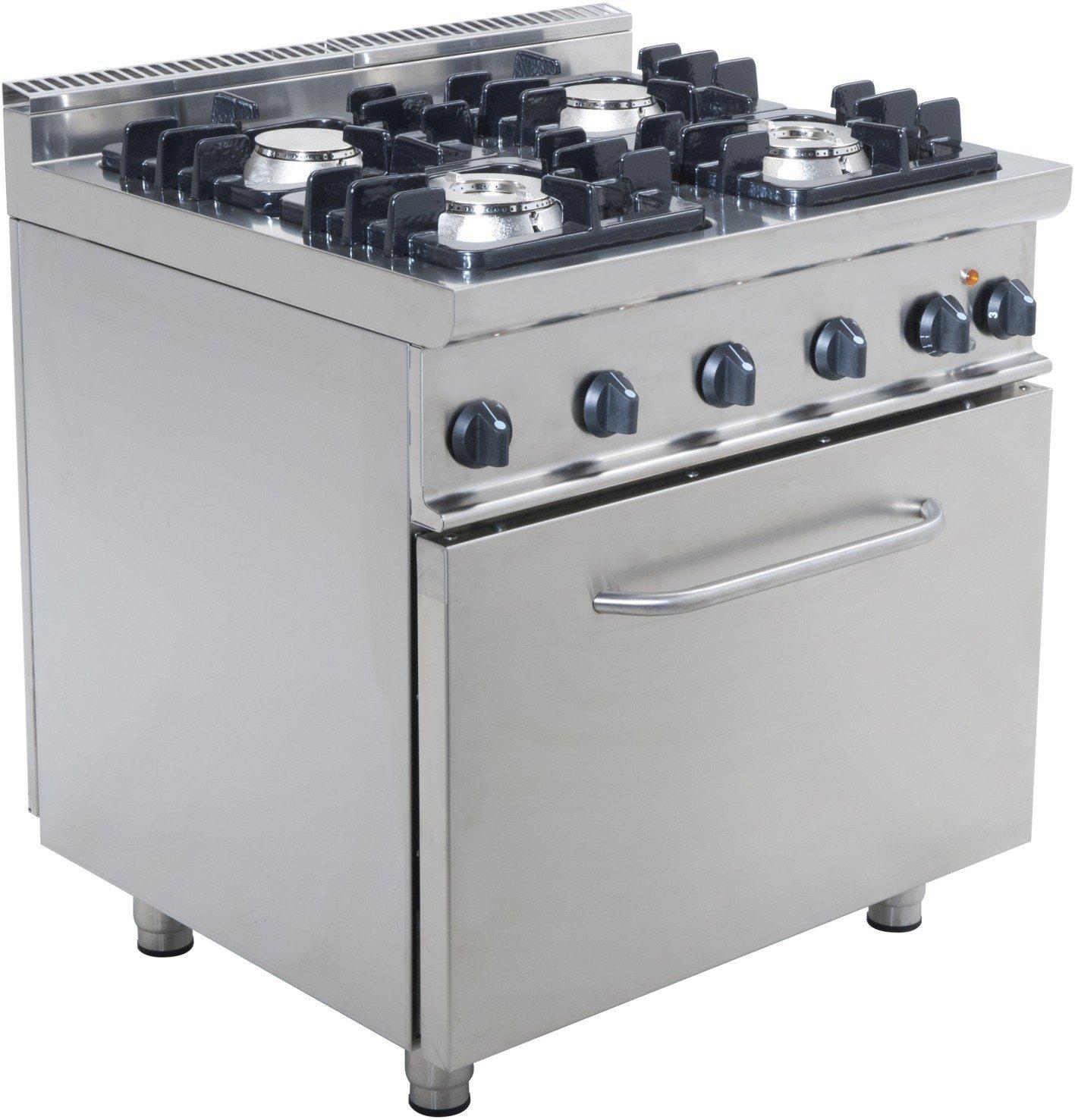 Cuisinière Feux Gaz Sur Four électrique EKUPGLE SARO - Cuisiniere four electrique 4 feux gaz pour idees de deco de cuisine