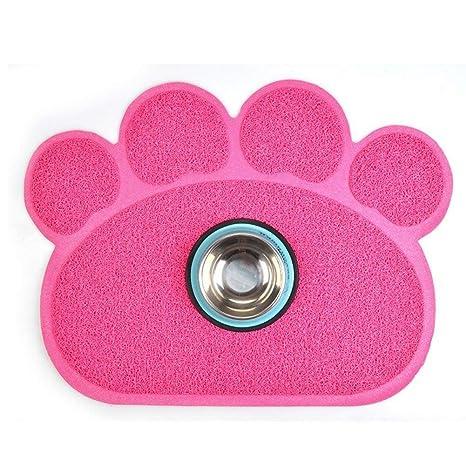 Lamzoom Alfombrilla antideslizante de PVC para comida de mascotas, alfombrilla para mascotas, alfombrilla para