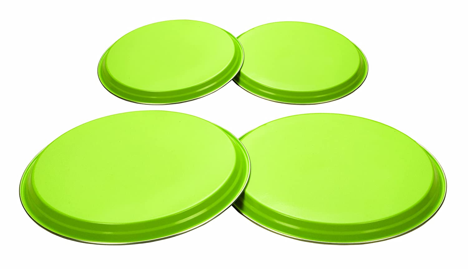 4 Piece Oven Hob Cover set - Lime Green