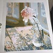 Fuumuui Kit de Pintura por N/úmeros Lienzo Digital para Manualidades DIY Lienzo Digital al /óleo Regalo para Ni/ños Estudiantes-Elefante 16 x 20 Pulgadas