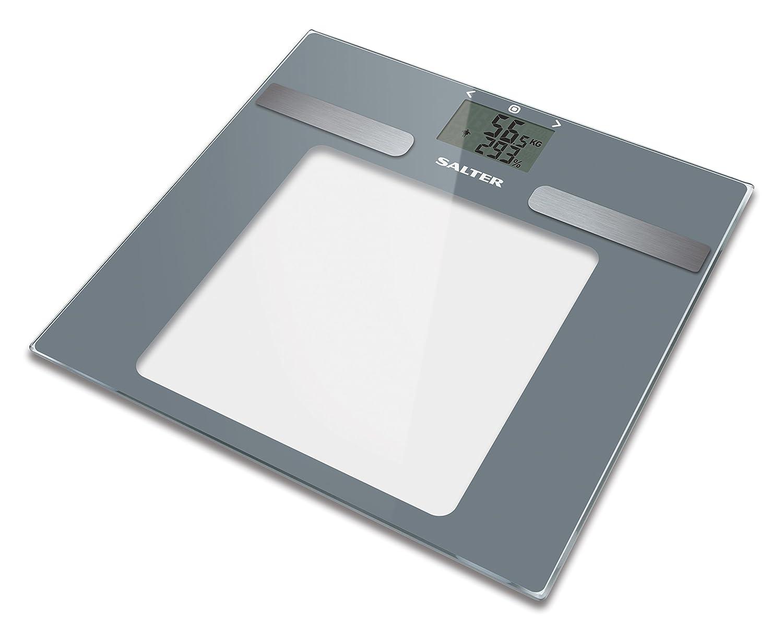 Salter La báscula de baño del analizador calcula el BMI Memory 10 usuarios, capacidad 180 KG, gris: Amazon.es: Salud y cuidado personal