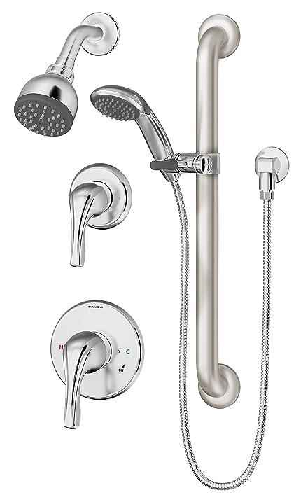Symmons 9605-PLR-TRM Origins 1-Spray Handshower & Showerhead Combo ...