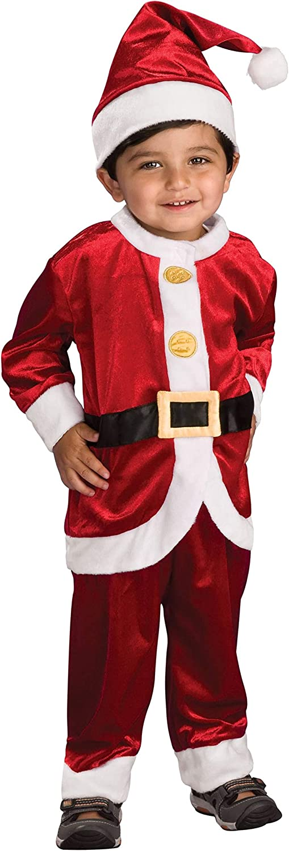 Amazon.com: Disfraz de Papa Noel para niños, 1 - 2 ...