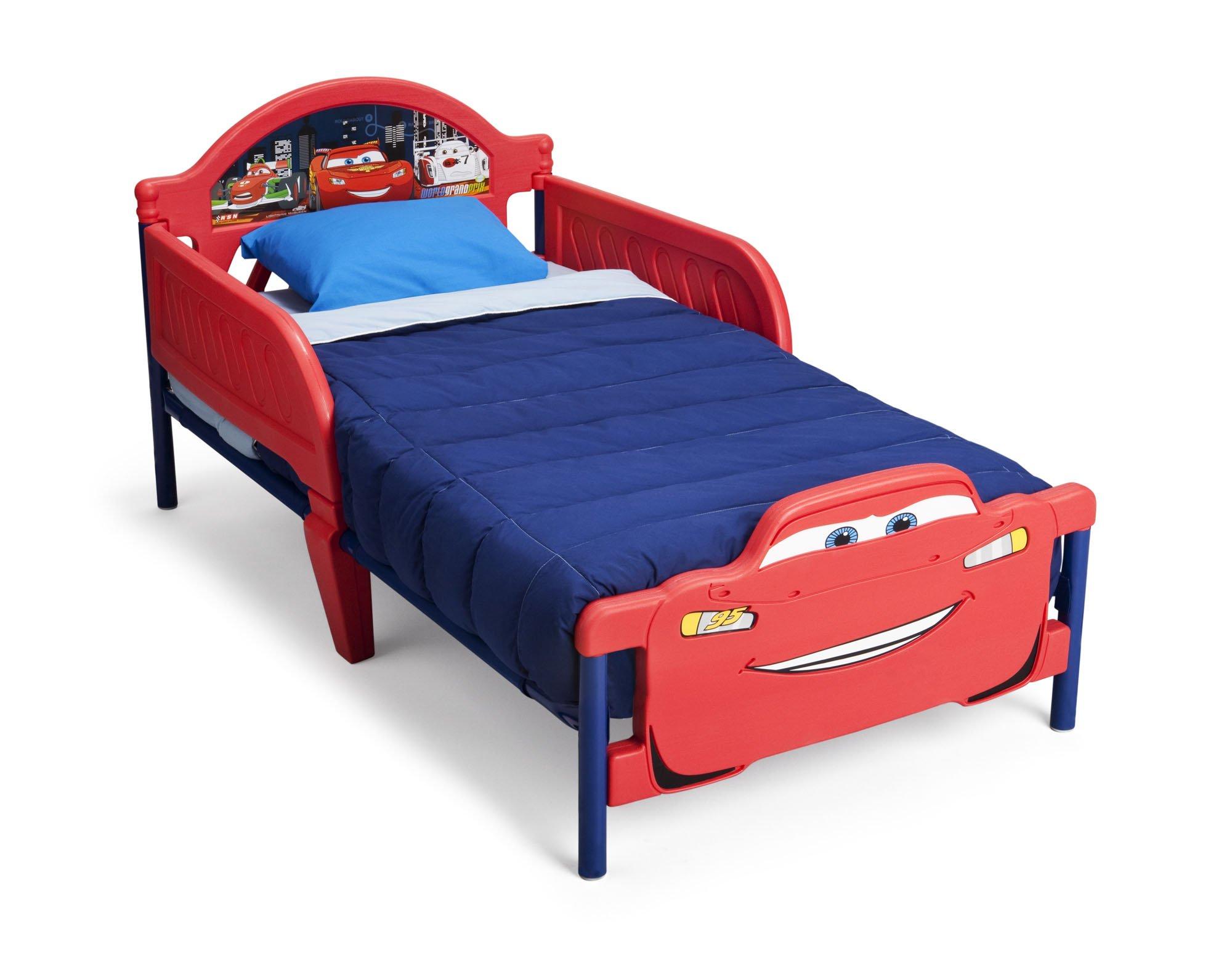 Delta Children 3D-Footboard Toddler Bed, Disney/Pixar Cars