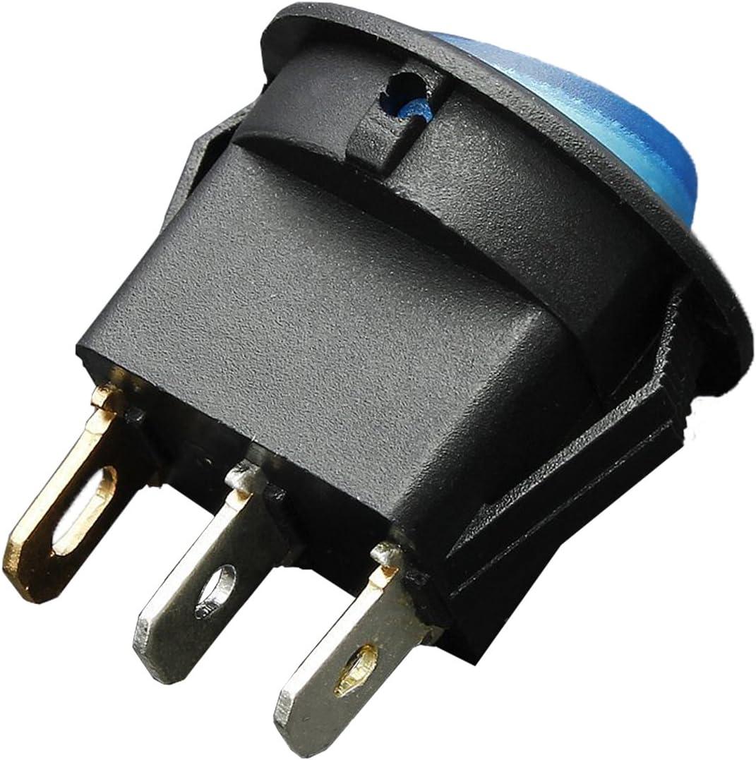 Jaune Gaoominy 12V 16A LED Interrupteur a Bascule Bipolaire on//Off SPST pour Auto Moto Bateau
