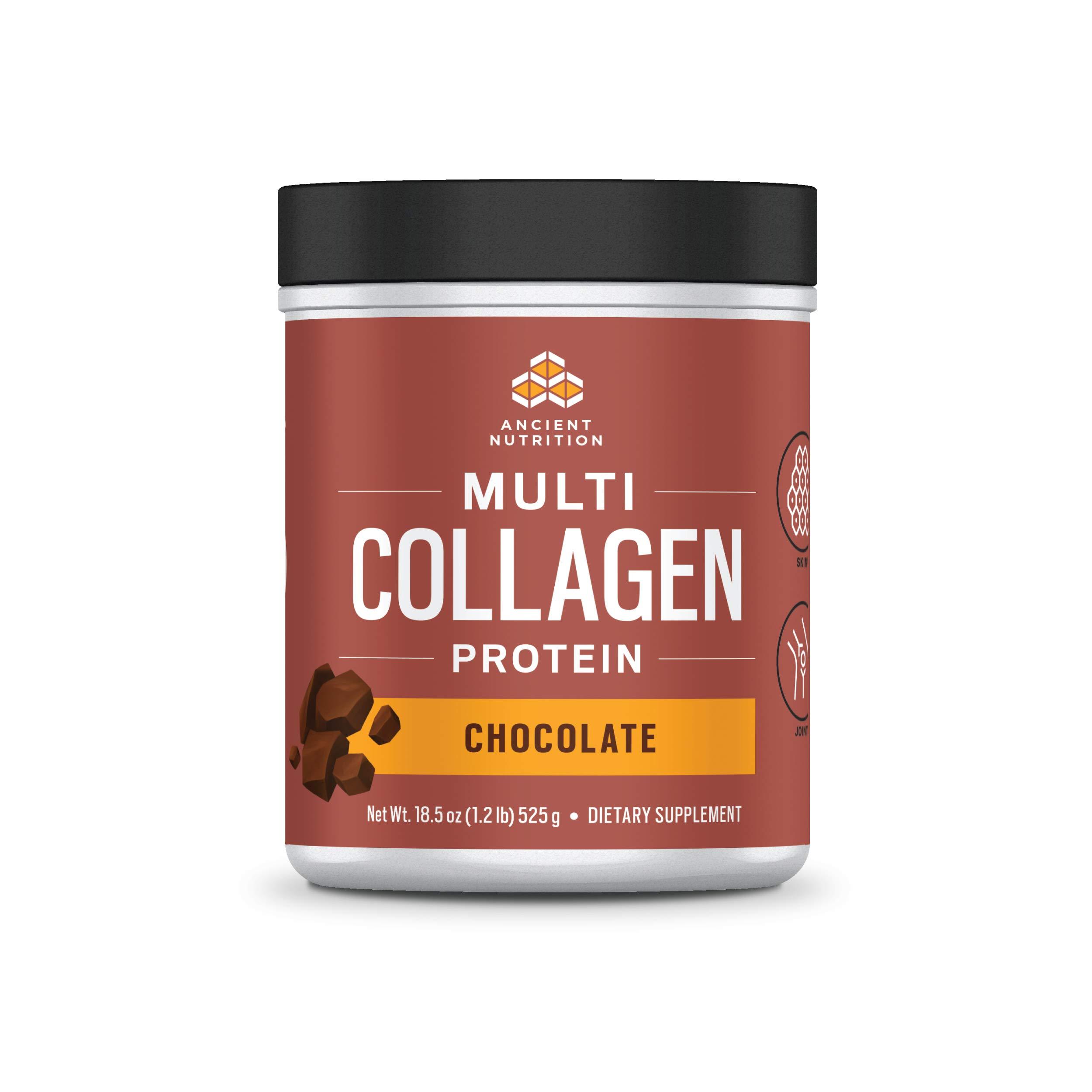 Ancient Nutrition Multi Collagen Protein Powder, Chocolate Flavor - 40 Servings
