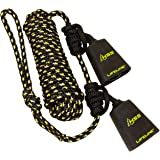 Hunter Safety System Reflective Tandem Lifeline with 2 Prusik Knots and 2 Carabiners