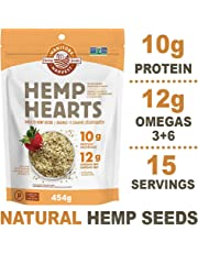 Manitoba Harvest Hemp Hearts Raw Shelled Hemp Seeds, 454g; with 10g Protein & 12g Omegas per Serving, Non-GMO, Gluten Free - Packaging May Vary