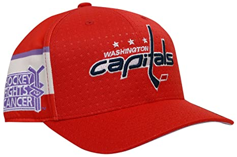 6a43da440 Amazon.com   adidas Washington Capitals Hockey Fights Cancer Flex ...