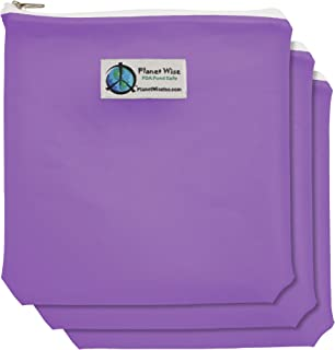product image for Planet Wise 3-Pack Reusable Zipper Quart Bags - Purple