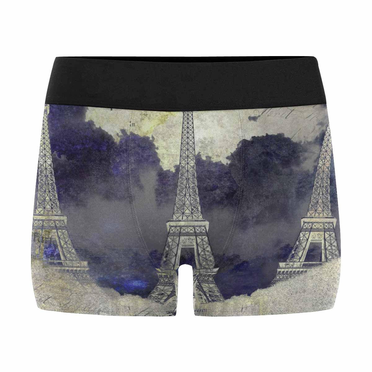 INTERESTPRINT Custom Mens All-Over Print Boxer Briefs Love in Paris XS-3XL
