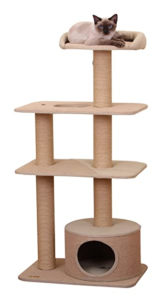 PetPals Multi-Level Cat Tree Condo Amazon.com : Trees Pet
