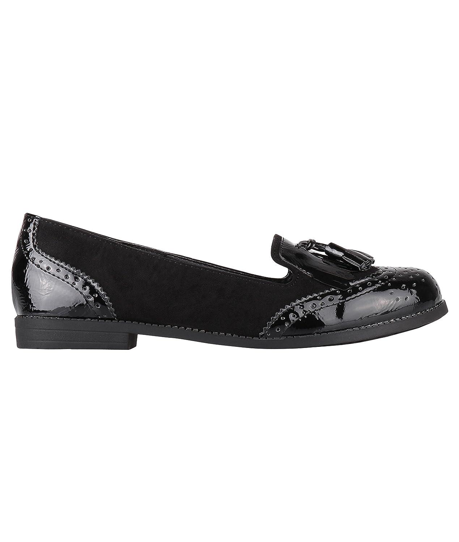 KRISP Zapatos Planos Mocasines[Negro,41]: Amazon.es: Zapatos y complementos