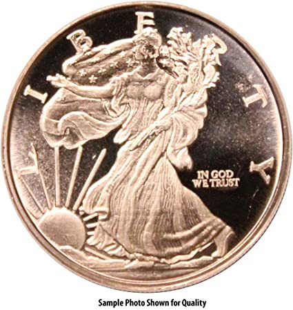 1 oz Copper Round Walking Liberty
